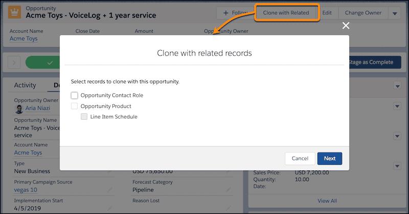 Salesforce-Spring-Release-2020-Objekte-inklusive-Datensätze-klonen