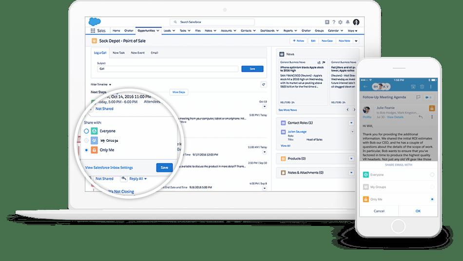 Bild:Salesforce Inbox and CRM Email